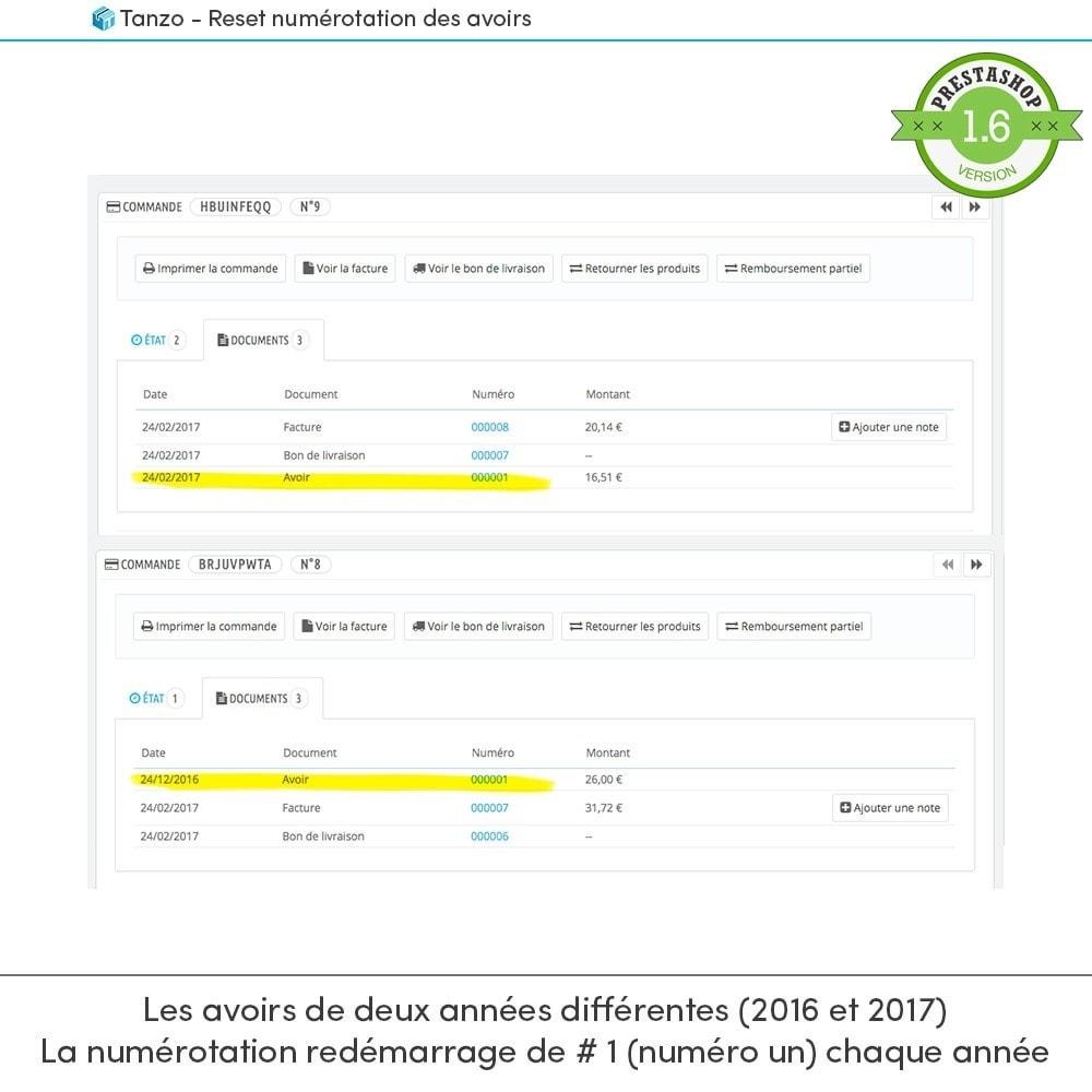 module - Comptabilité & Facturation - Reset numérotation des avoirs - 2