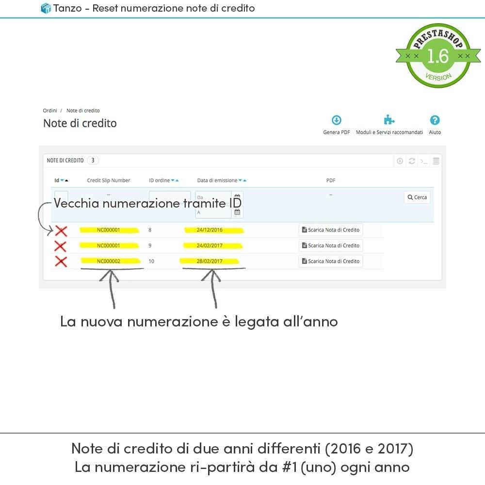 module - Contabilità & Fatturazione - Reset numerazione note di credito - 3