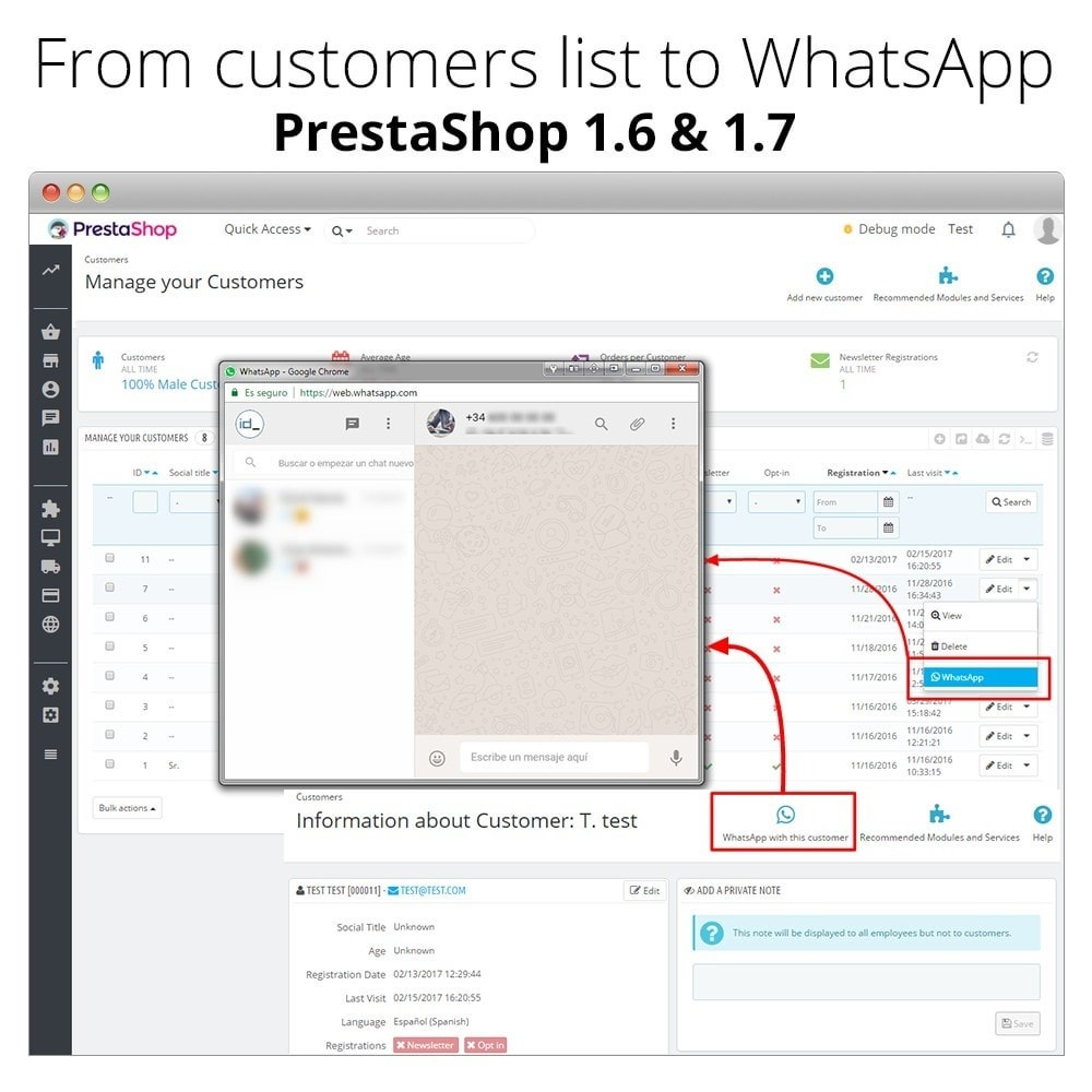module - Ondersteuning & Online chat - WhatsApp Chat - Live chat with your customers - 7