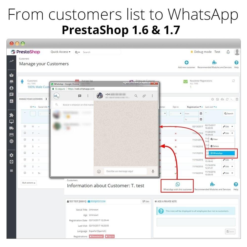 module - Wsparcie & Czat online - WhatsApp Live Chat With Customers et WhatsApp Business - 8