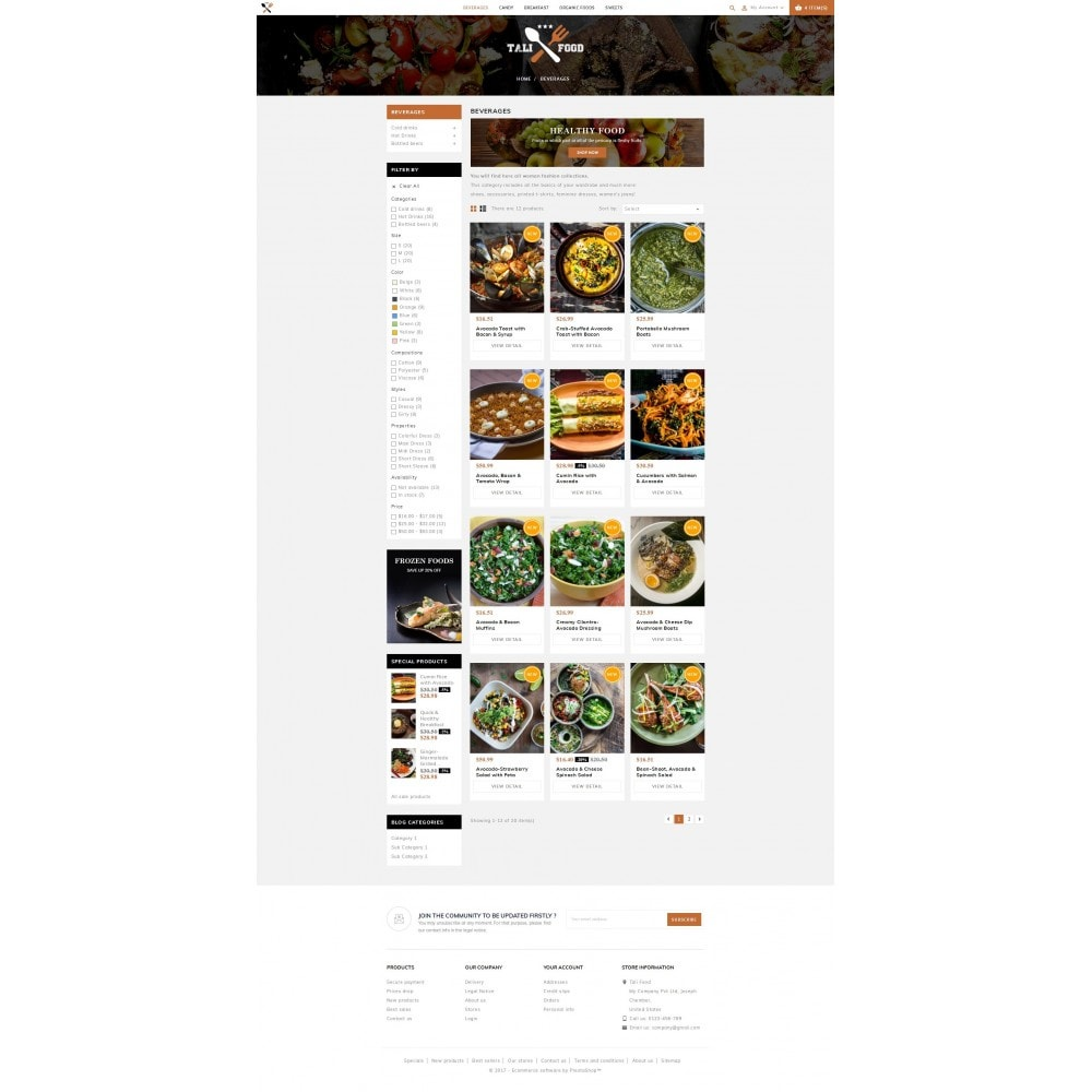 theme - Alimentation & Restauration - Tali Food Store - 3