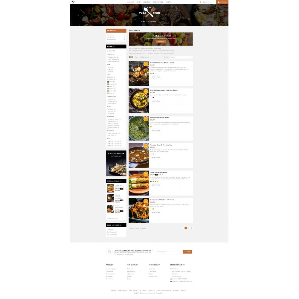 theme - Alimentation & Restauration - Tali Food Store - 4