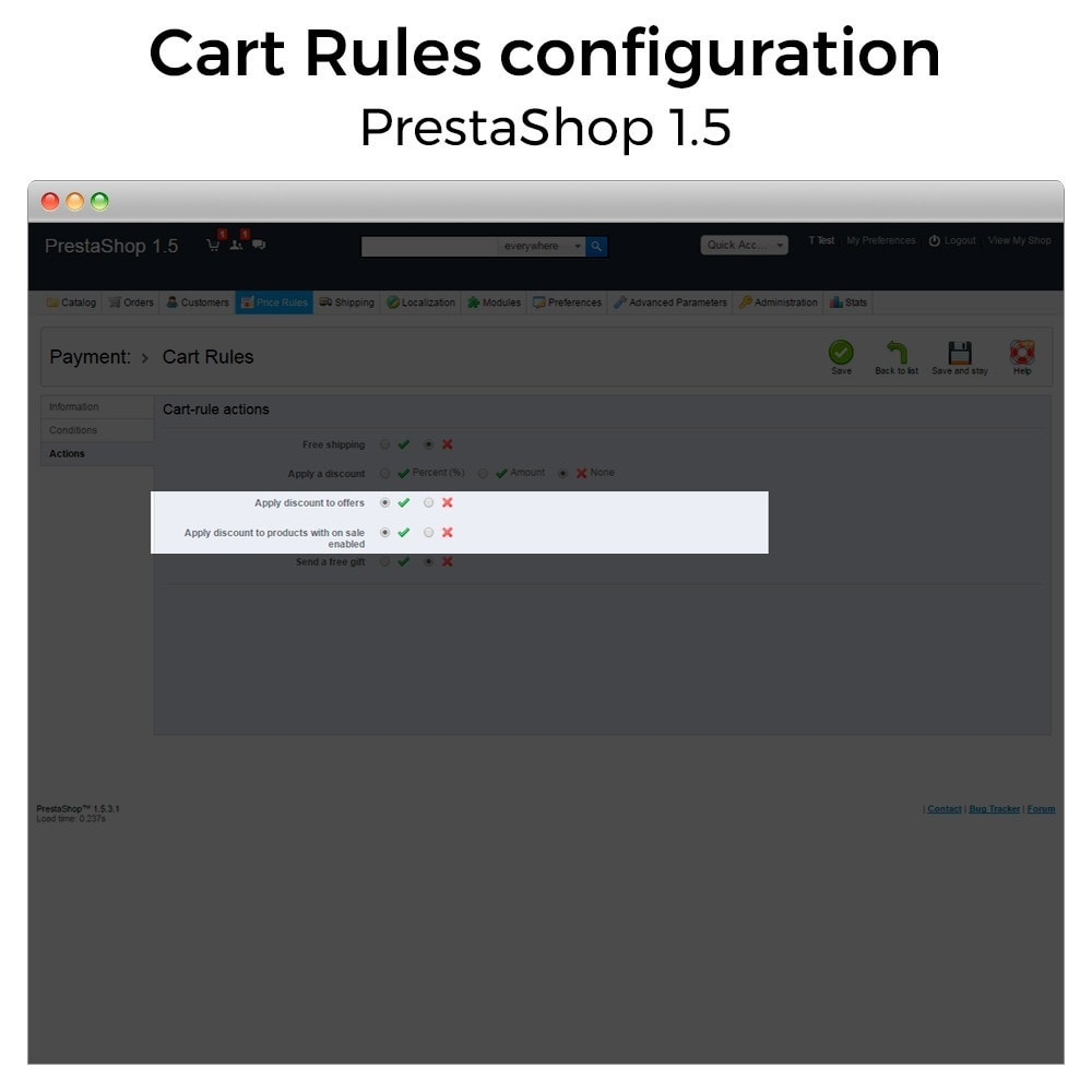 module - Акции и Подарки - Conditional Cart Rules (without offers, on sale...) - 11