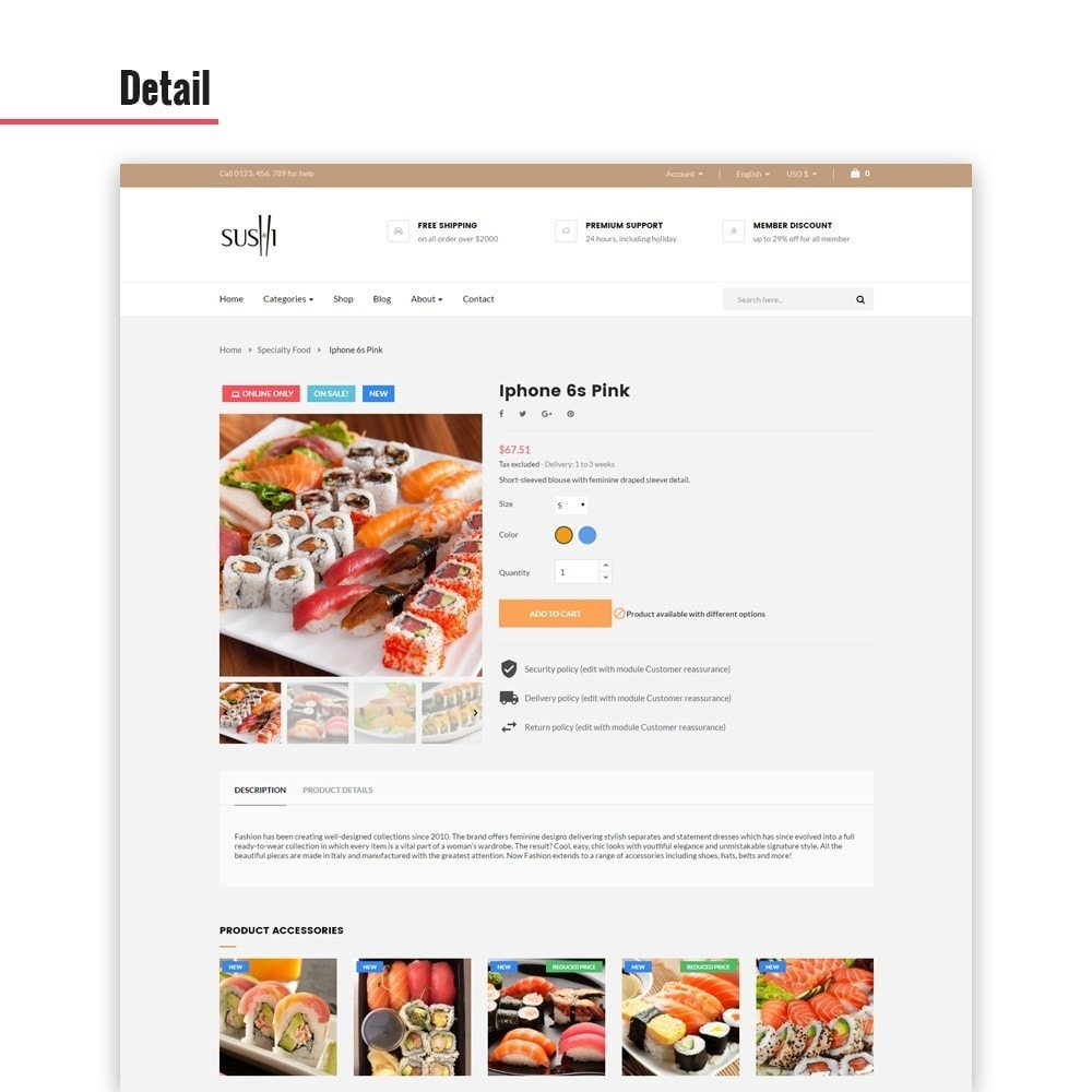 theme - Lebensmittel & Restaurants - Leo I-sushi - 3