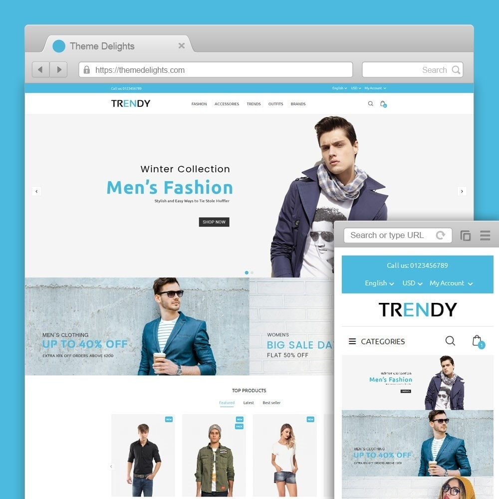 theme - Мода и обувь - Trendy Fashion Store - 1