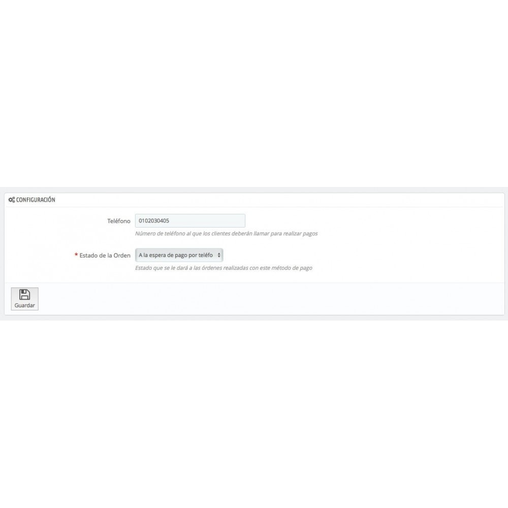 module - Otros métodos de pago - Pagar por Teléfono - 2