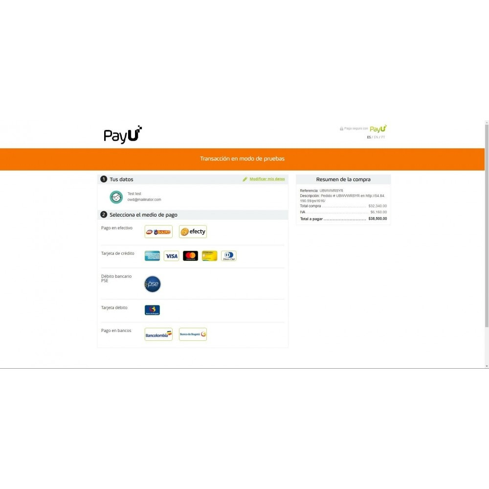 module - Payment by Card or Wallet - Payu Latam Plus - 6
