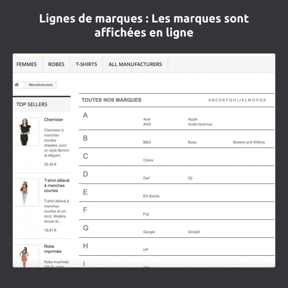 module - Marques & Fabricants - Modifier et améliorer la page marques / fabricants - 8