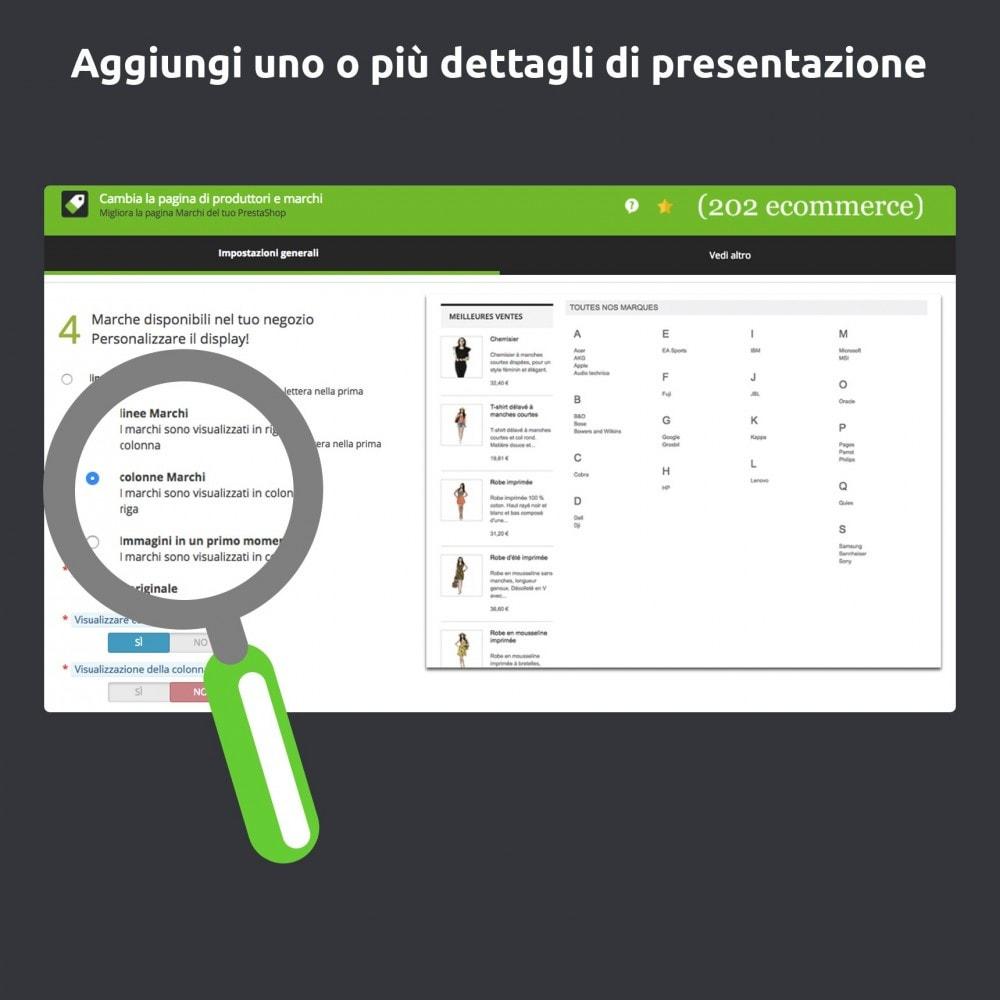 module - Marche & Produttori - Cambia e migliora della pagina produttore/marchio - 2