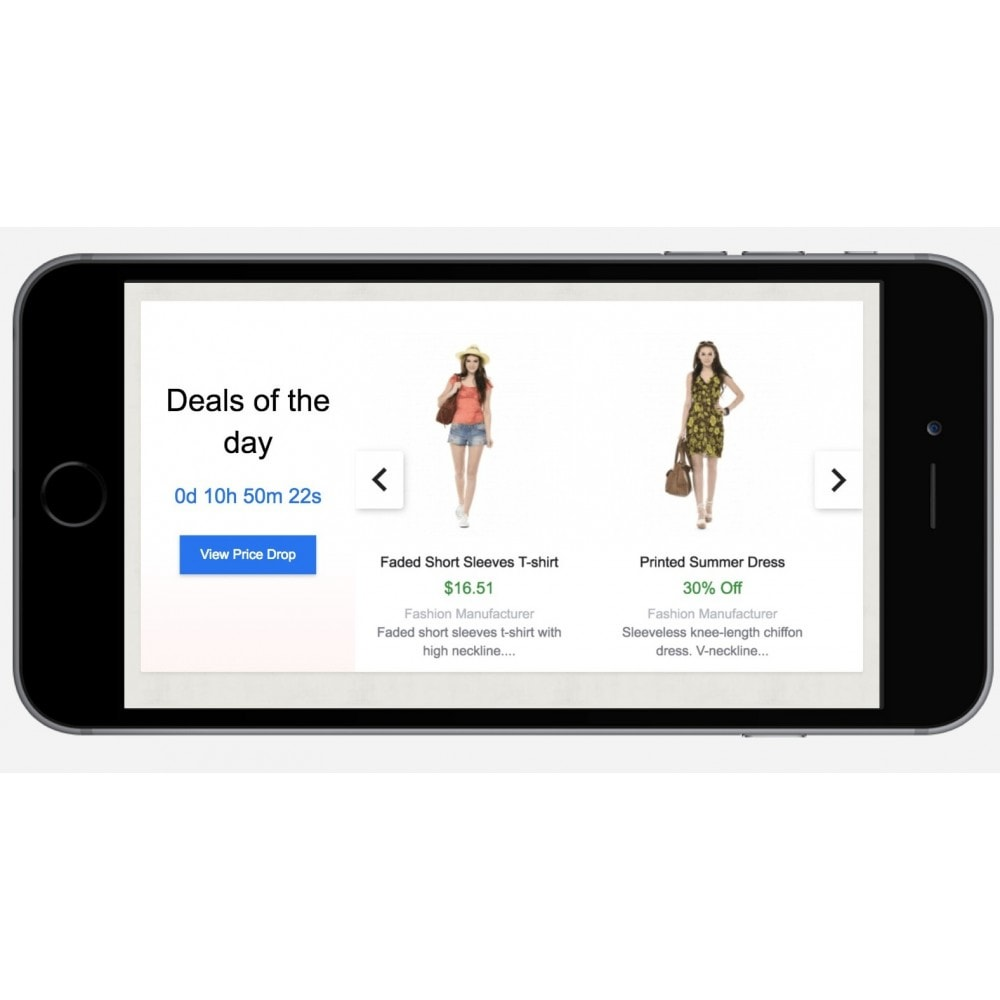 module - Uitverkoop & Besloten verkoop - Deals of the Day slider with countdown - 5