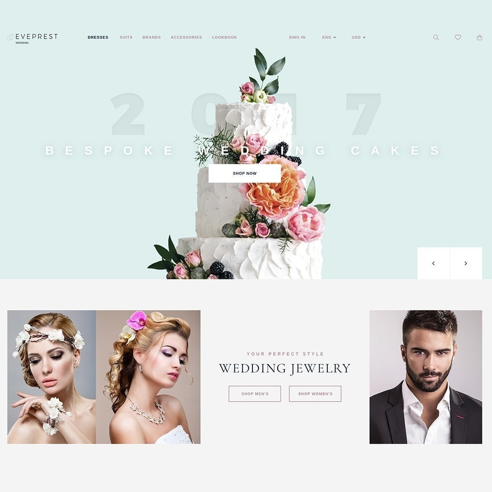 theme - Gifts, Flowers & Celebrations - EvePrest Wedding - Wedding Online Store - 2