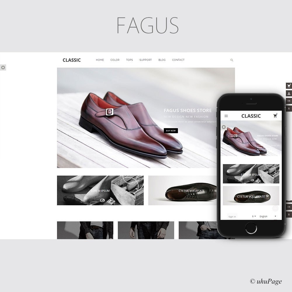 theme - Fashion & Shoes - Fagus Shoes Store - 1