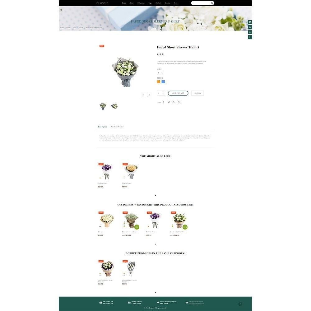 theme - Gifts, Flowers & Celebrations - Fordia Flower Store - 7