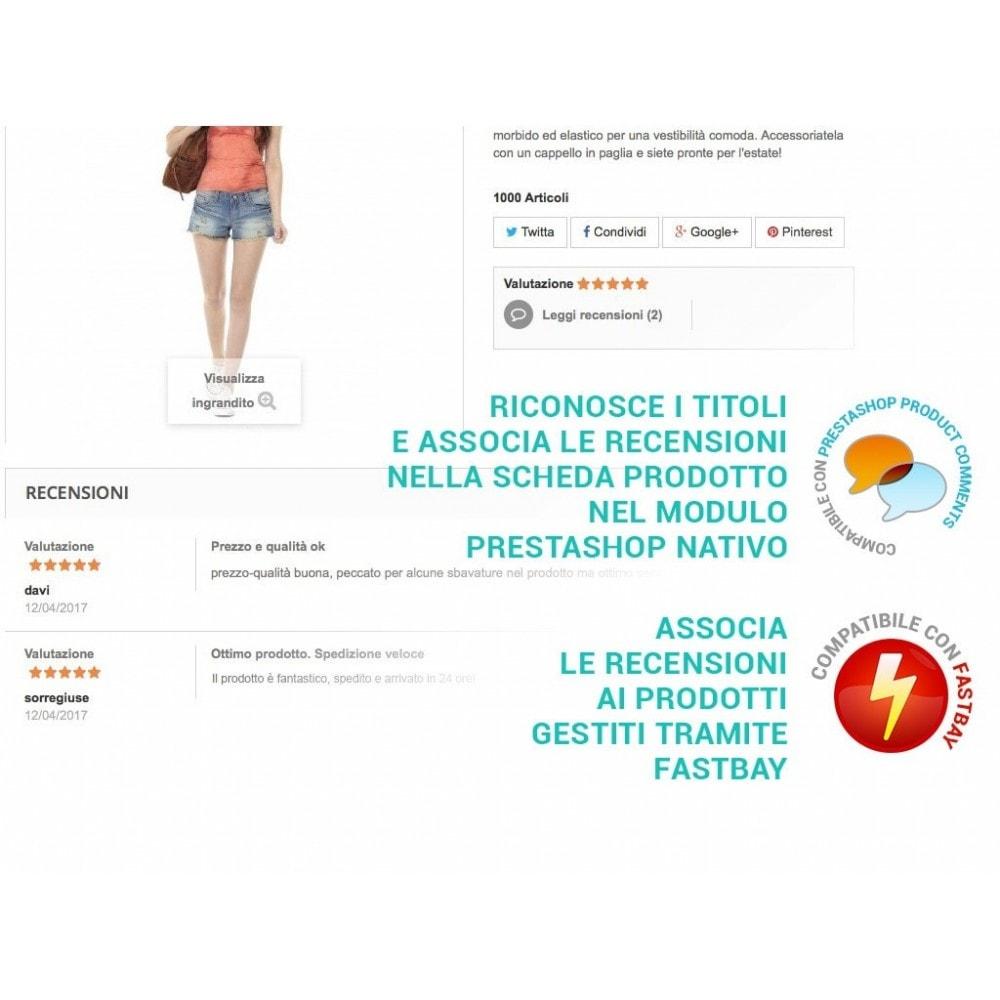 module - Recensioni clienti - Importa recensioni / feedback eBay in Prestashop - 2
