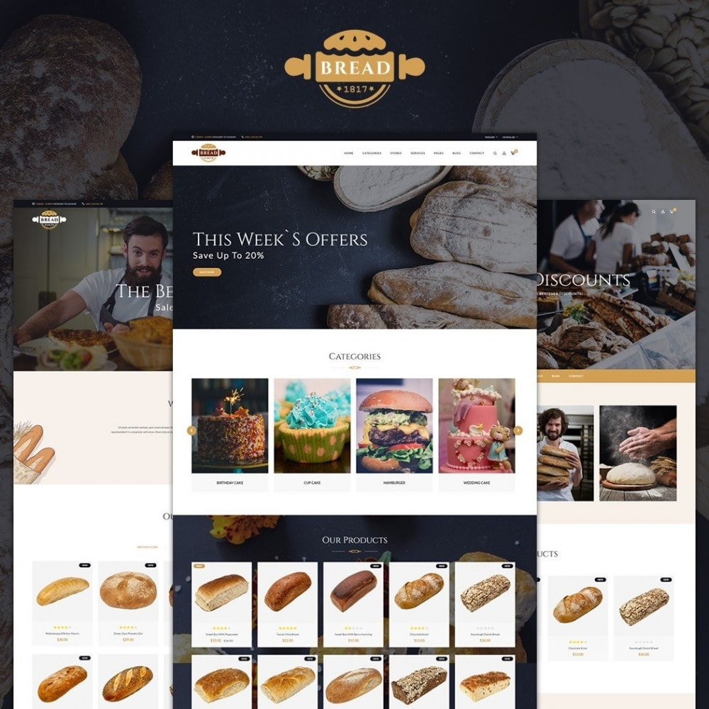 theme - Alimentation & Restauration - JMS Bread - 1