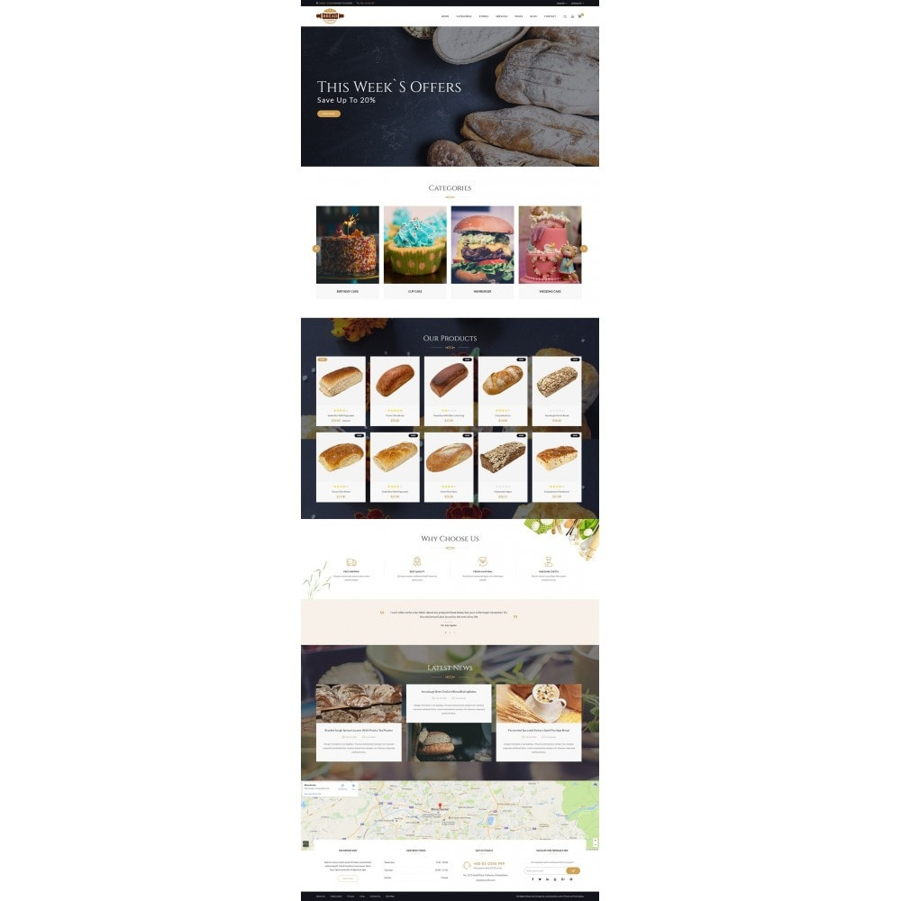 theme - Food & Restaurant - JMS Bread - 7