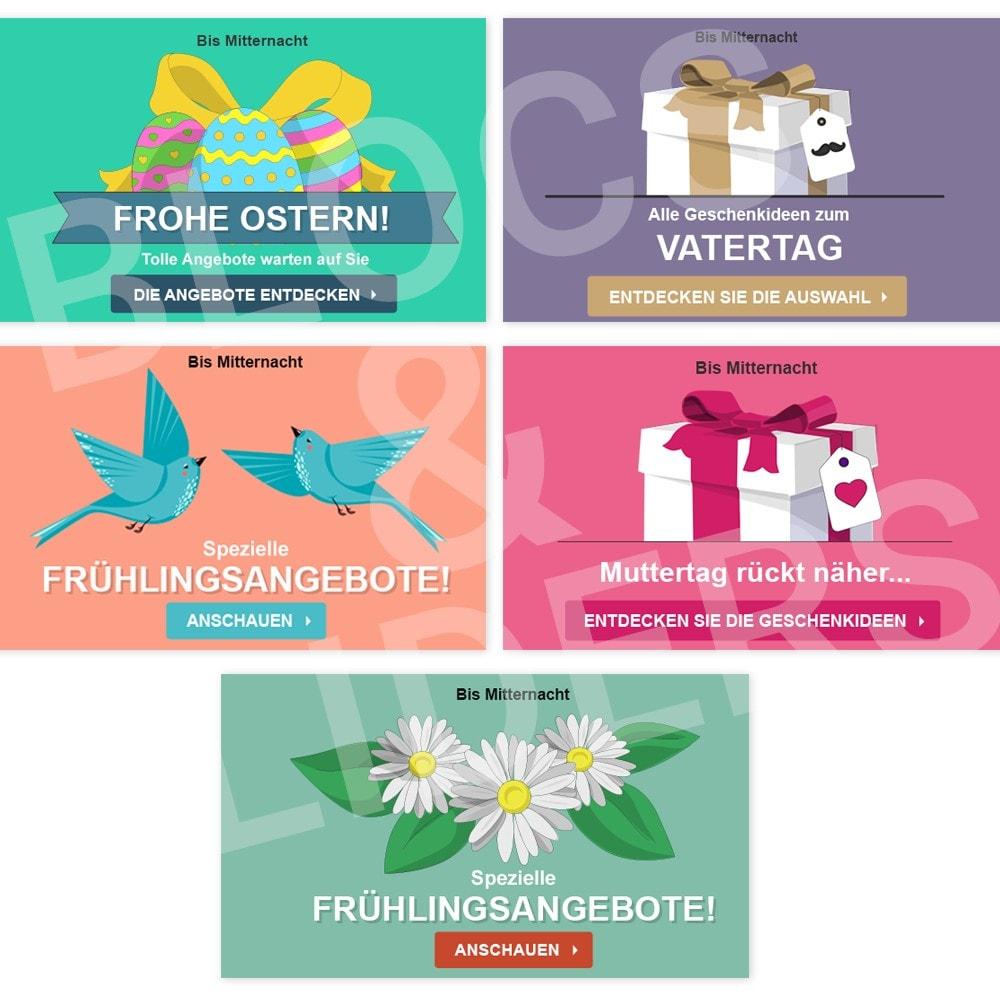other - Bildmaterial für Online-Aktionen - 5 Werbegrafiken - Frühling - 1.7 - 1