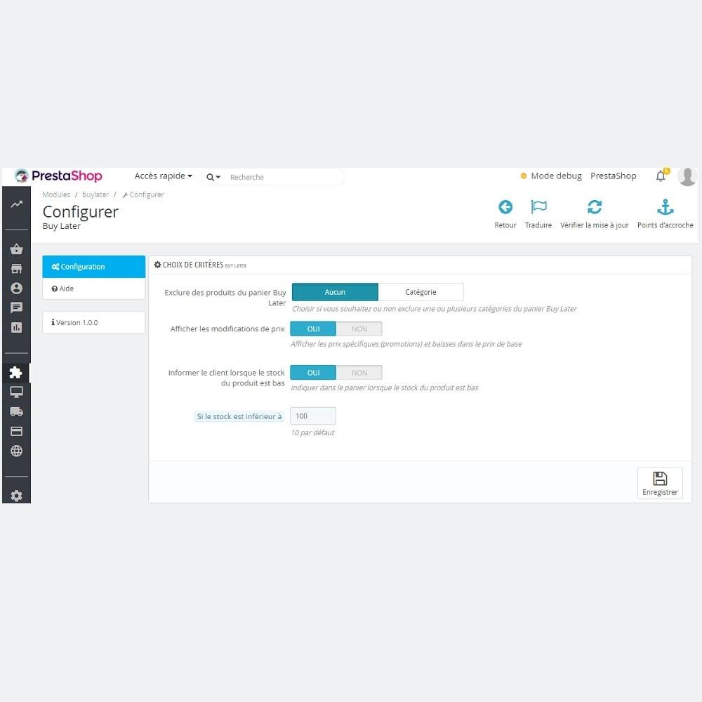 module - Liste de souhaits & Carte cadeau - Enregistrer pour plus tard (Wishlist Buy Later) - 4