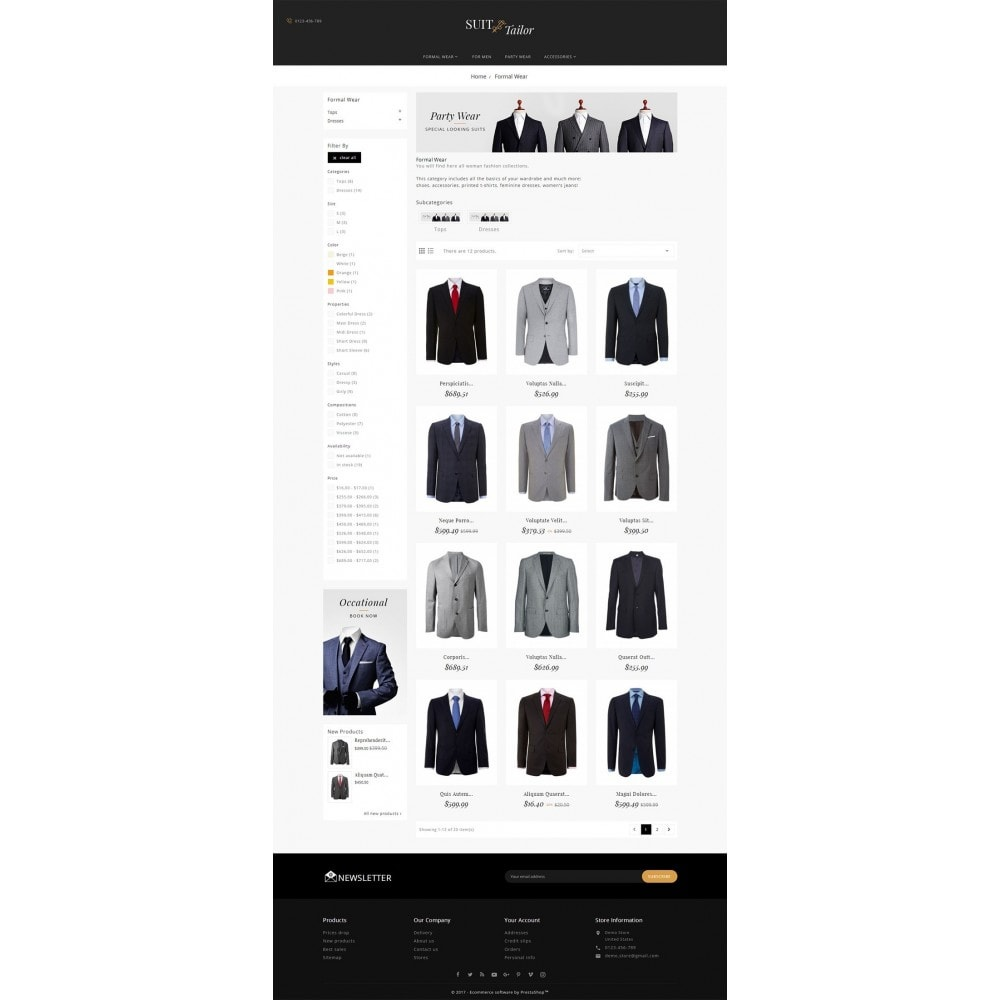 theme - Fashion & Shoes - Suit/Tailor Store - 3