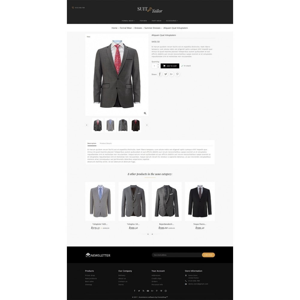 theme - Fashion & Shoes - Suit/Tailor Store - 5