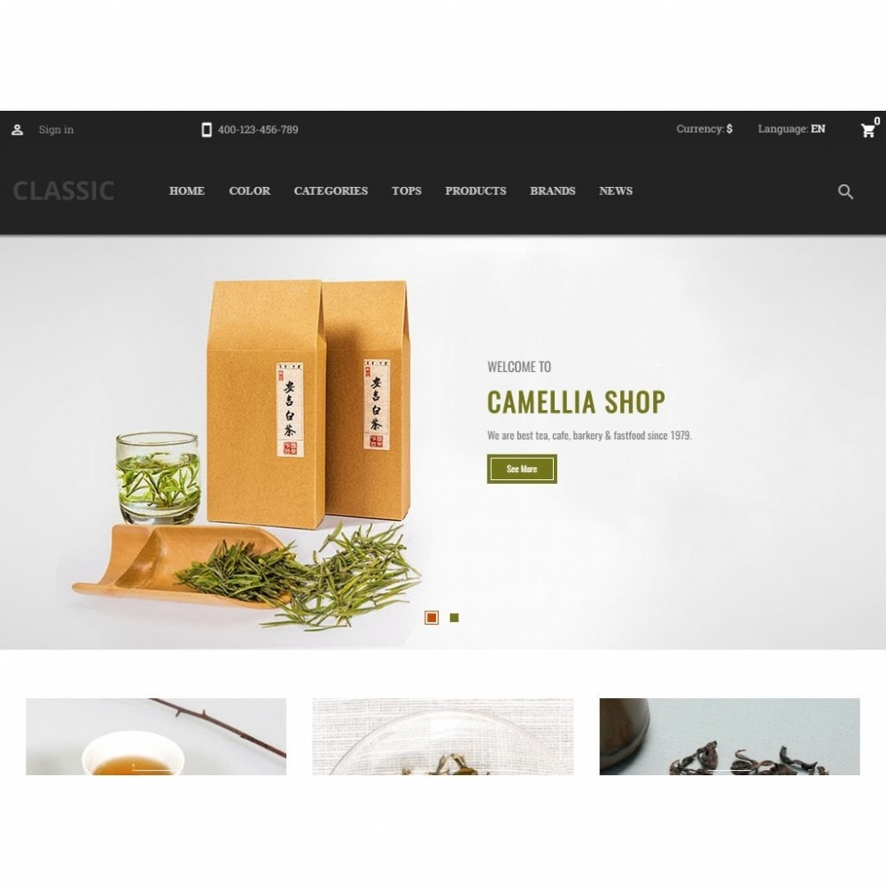 theme - Drink & Wine - Camellia Tea Store - 5
