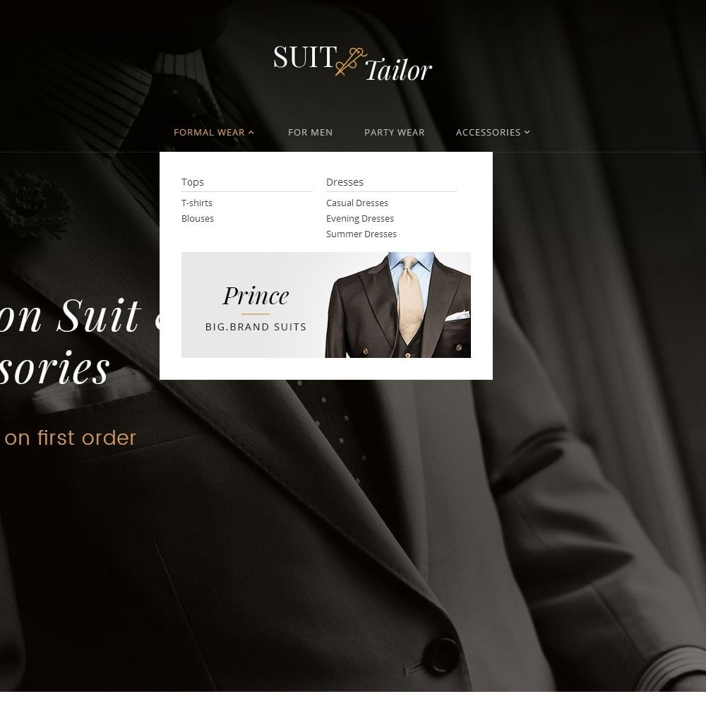 theme - Fashion & Shoes - Suit/Tailor Store - 9