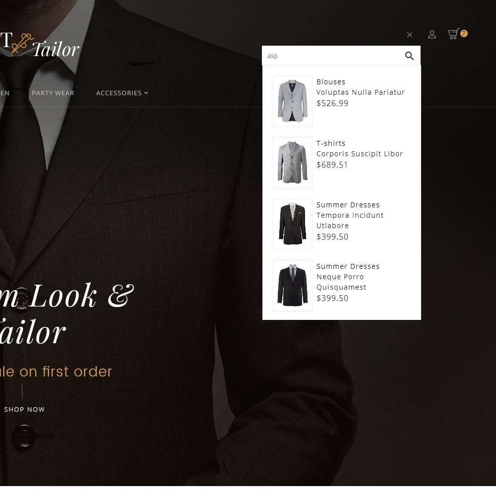 theme - Fashion & Shoes - Suit/Tailor Store - 10