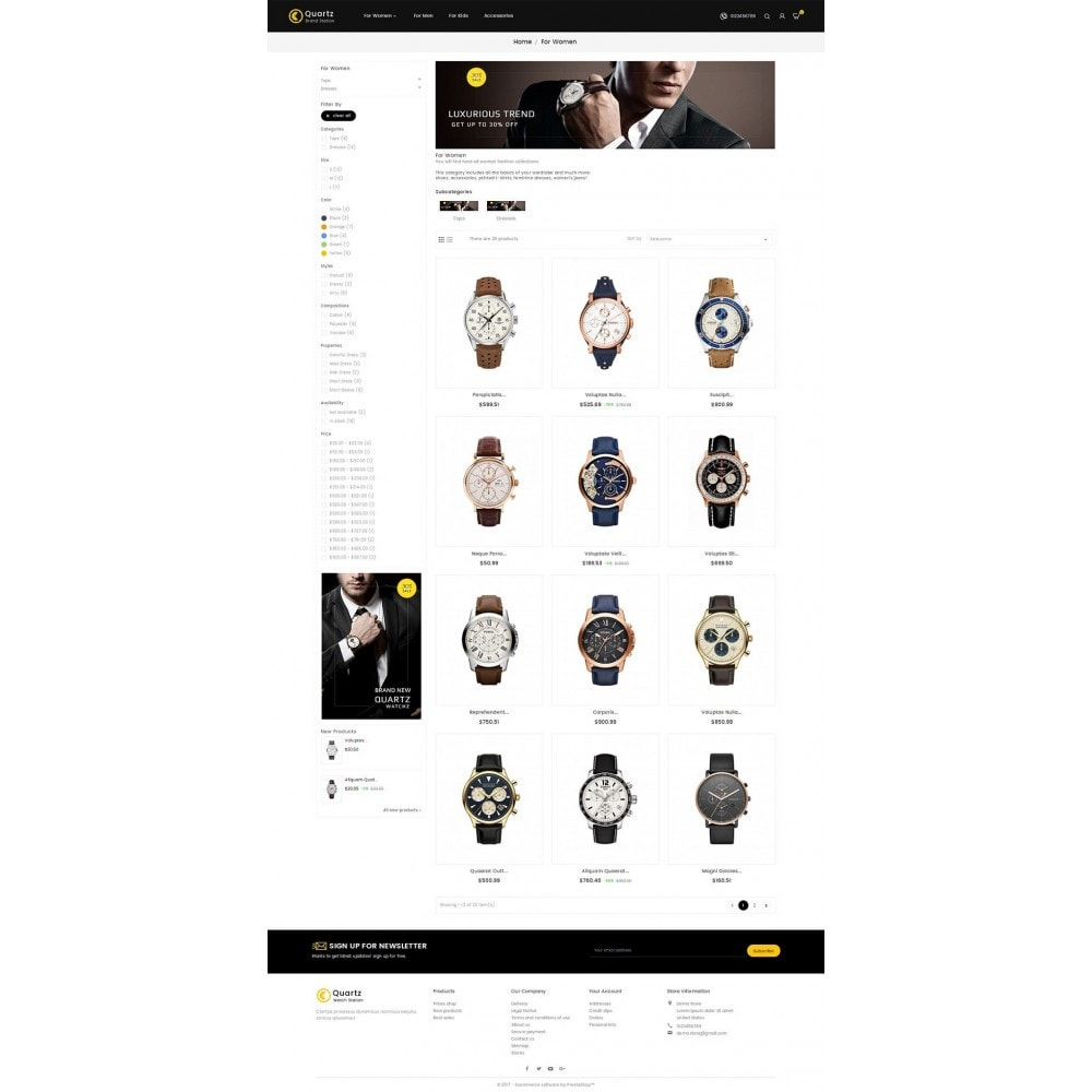 theme - Schmuck & Accesoires - Quartz Watch Store - 3