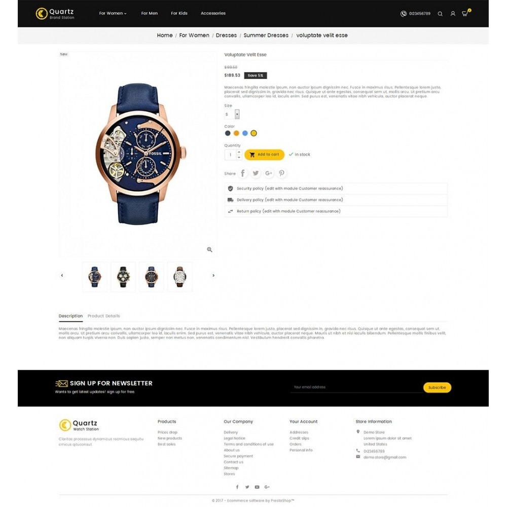theme - Schmuck & Accesoires - Quartz Watch Store - 5