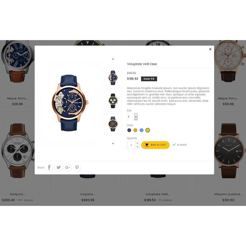 theme - Jewelry & Accessories - Quartz Watch Store - 8