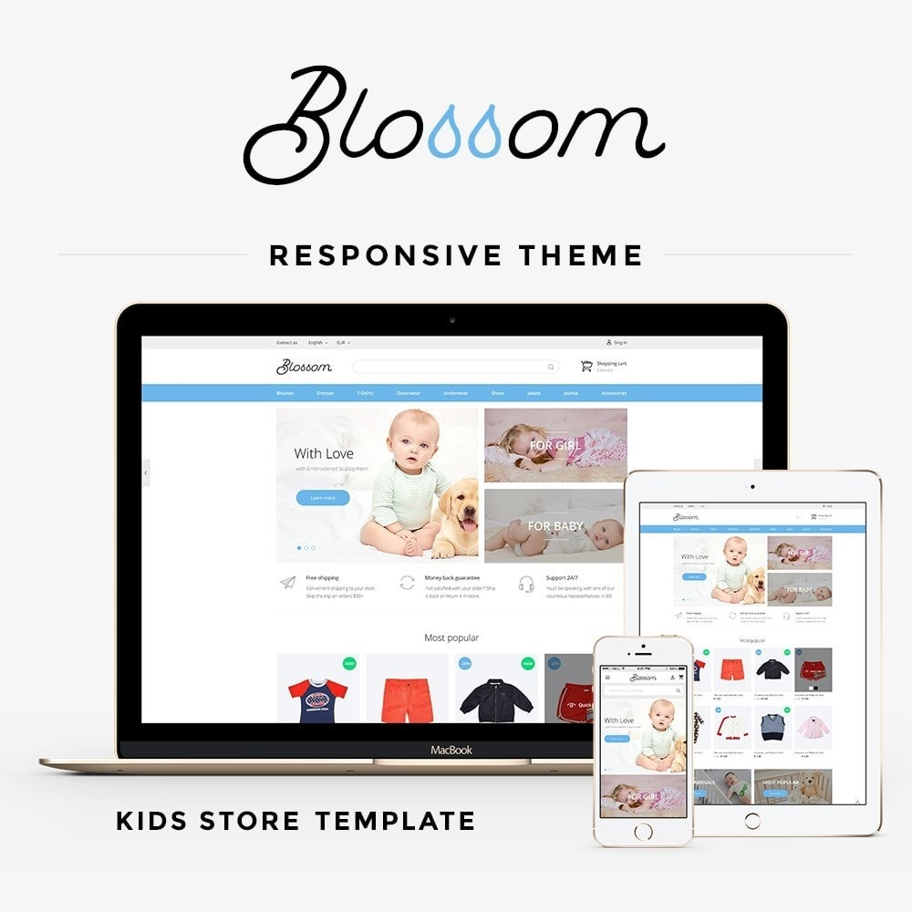 theme - Дети и Игрушки - Blossom - Kids Clothes - 1
