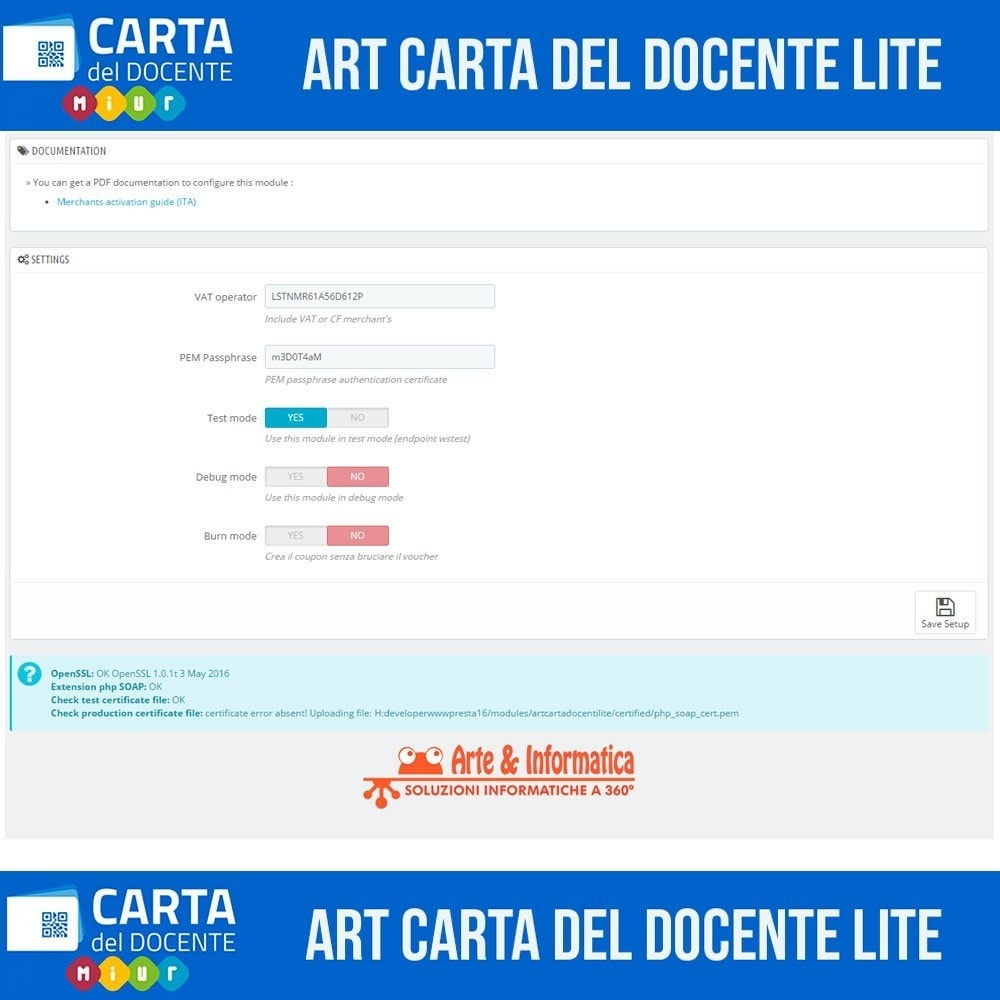 module - Formas de Pagamento Alternativas - Art POS GateWay Carta del Docente Light - 2