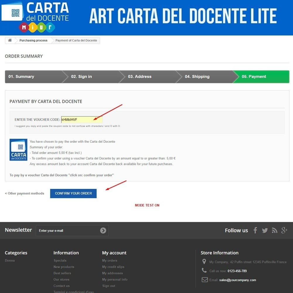 module - Other Payment Methods - Art POS GateWay Carta del Docente Light - 4