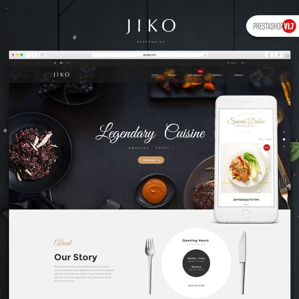 theme - Alimentation & Restauration - JiKo Food & Drink - 1