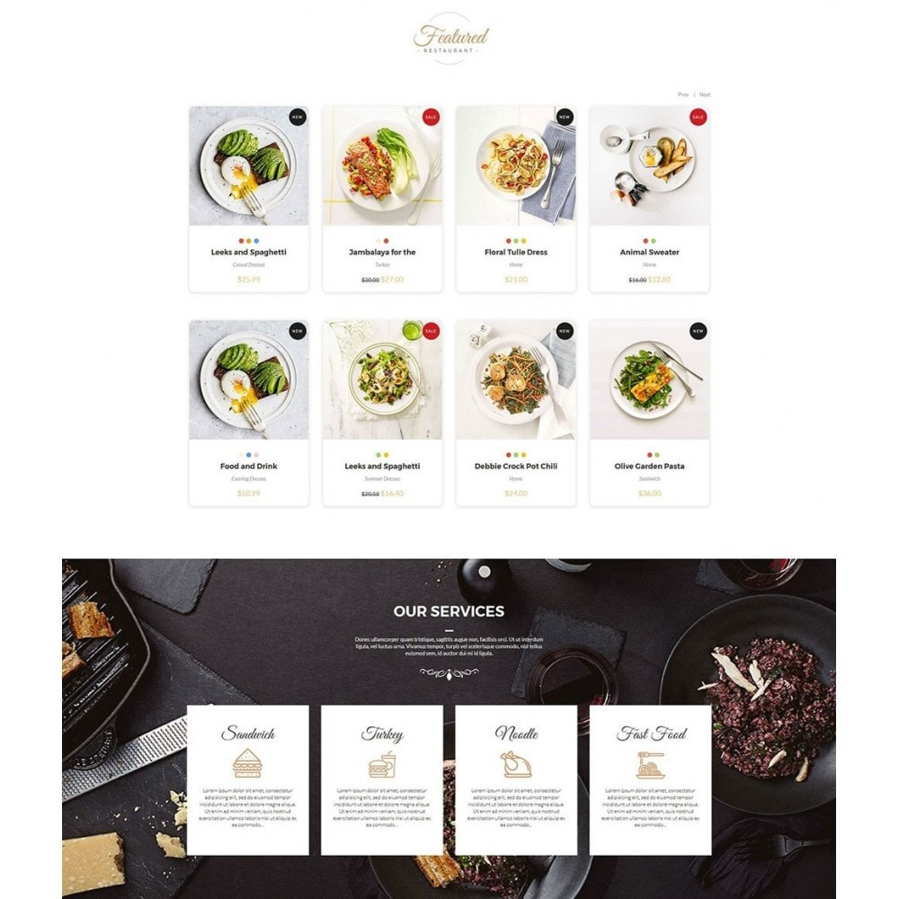 theme - Alimentation & Restauration - JiKo Food & Drink - 3