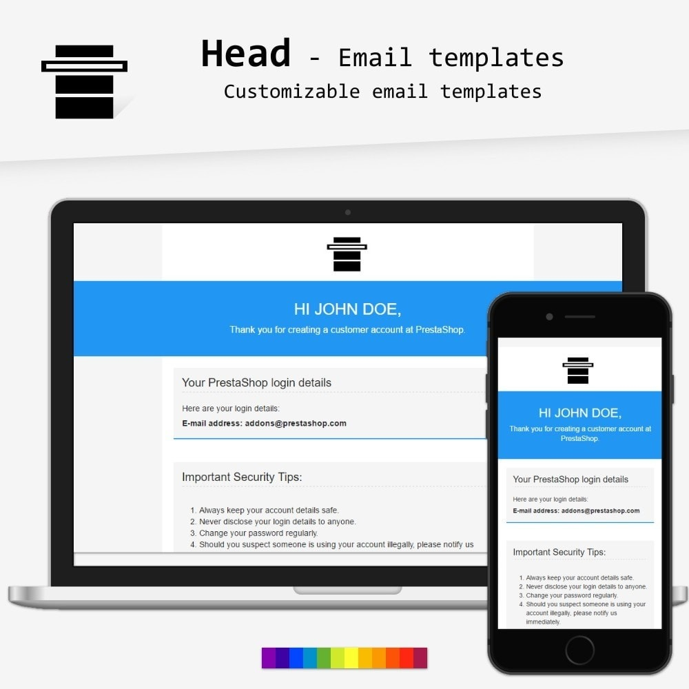 email - PrestaShop email templates - Head - Email templates - 1