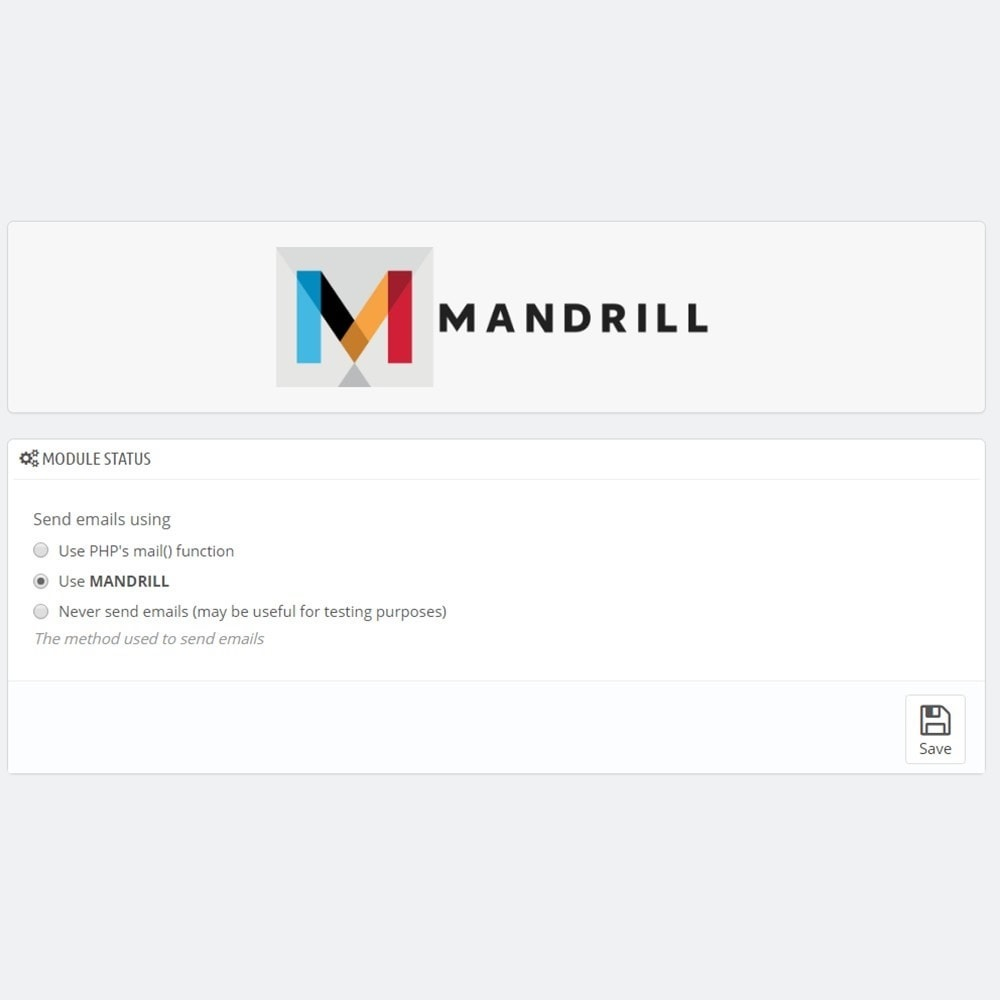 module - Newsletter & SMS - Mandrill Connector - Transactional Email from MailChimp - 3