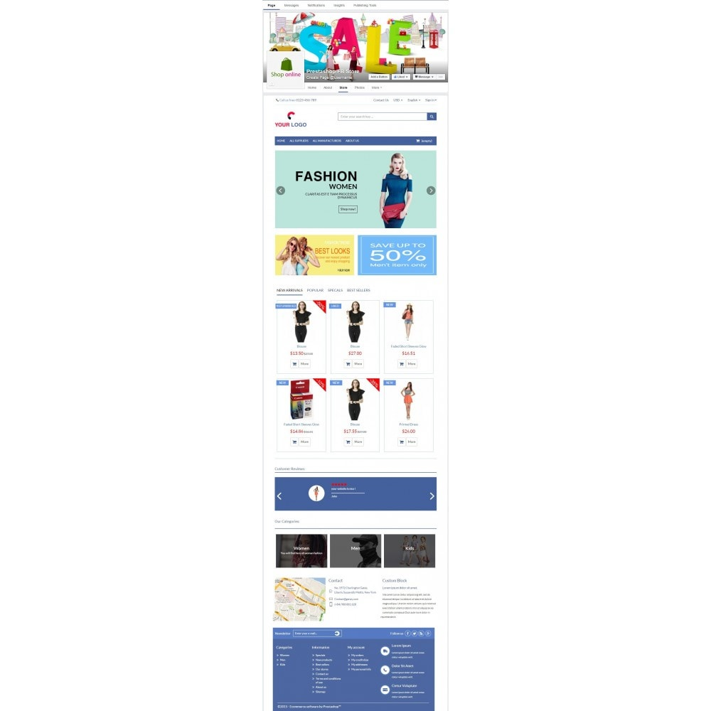 module - Productos en Facebook & redes sociales - Store on Fanpage - Open Store to Social Network Pro - 5