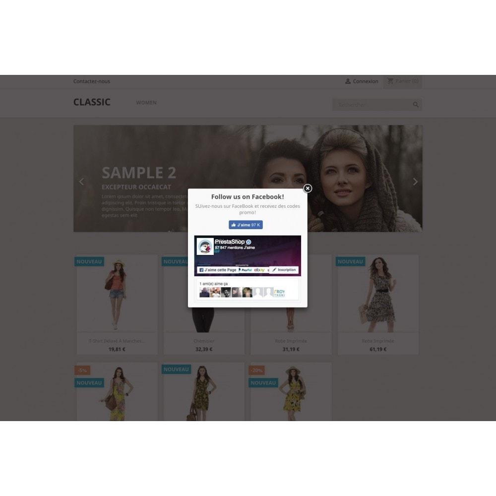 module - Produits sur Facebook & réseaux sociaux - Fenêtre pop-up: HTML et réseau social - 1