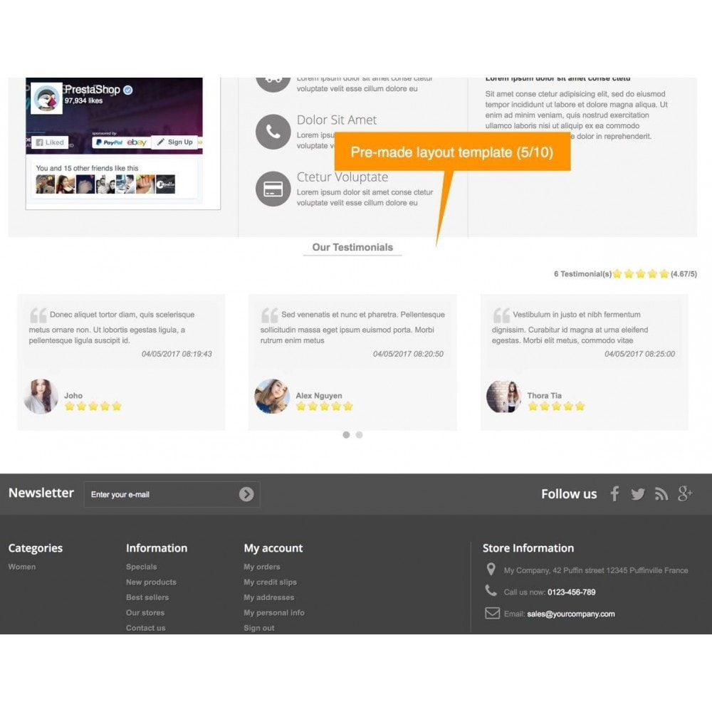 module - Recensioni clienti - Testimonials and Shop Reviews Pro - 7