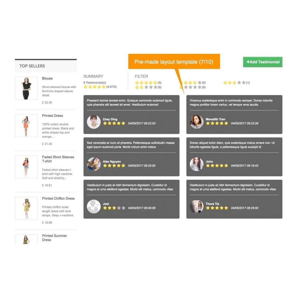 module - Customer Reviews - Testimonials and Shop Reviews Pro - 9
