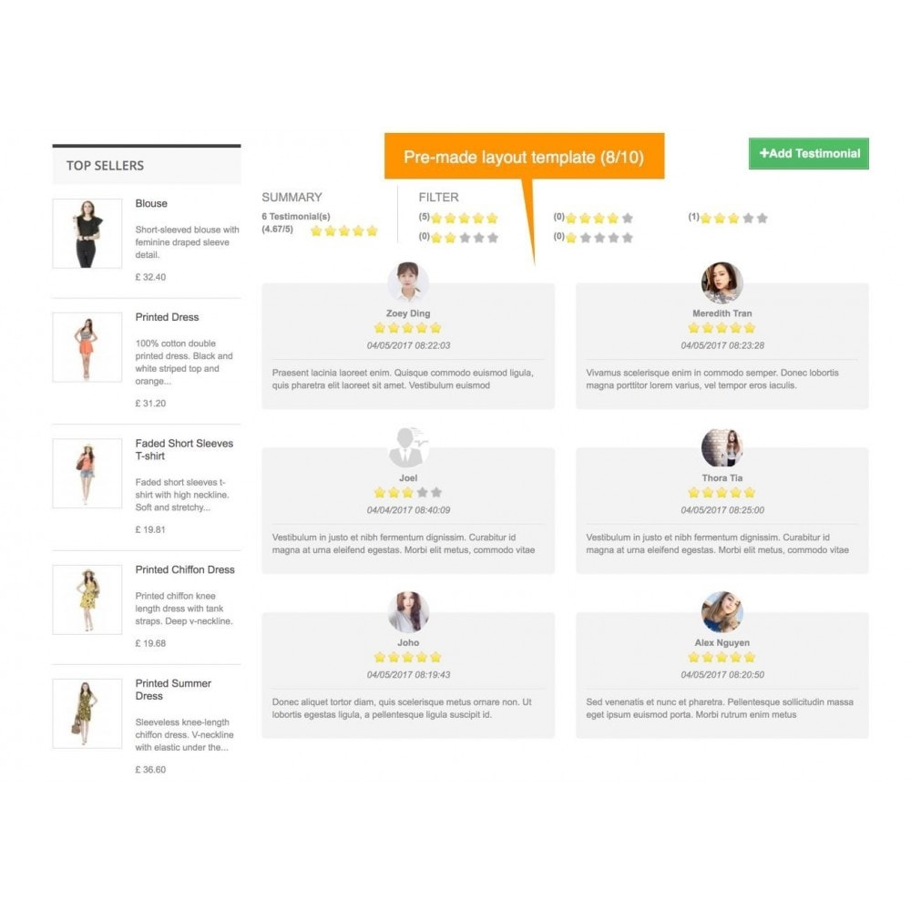 module - Customer Reviews - Testimonials and Shop Reviews Pro - 10