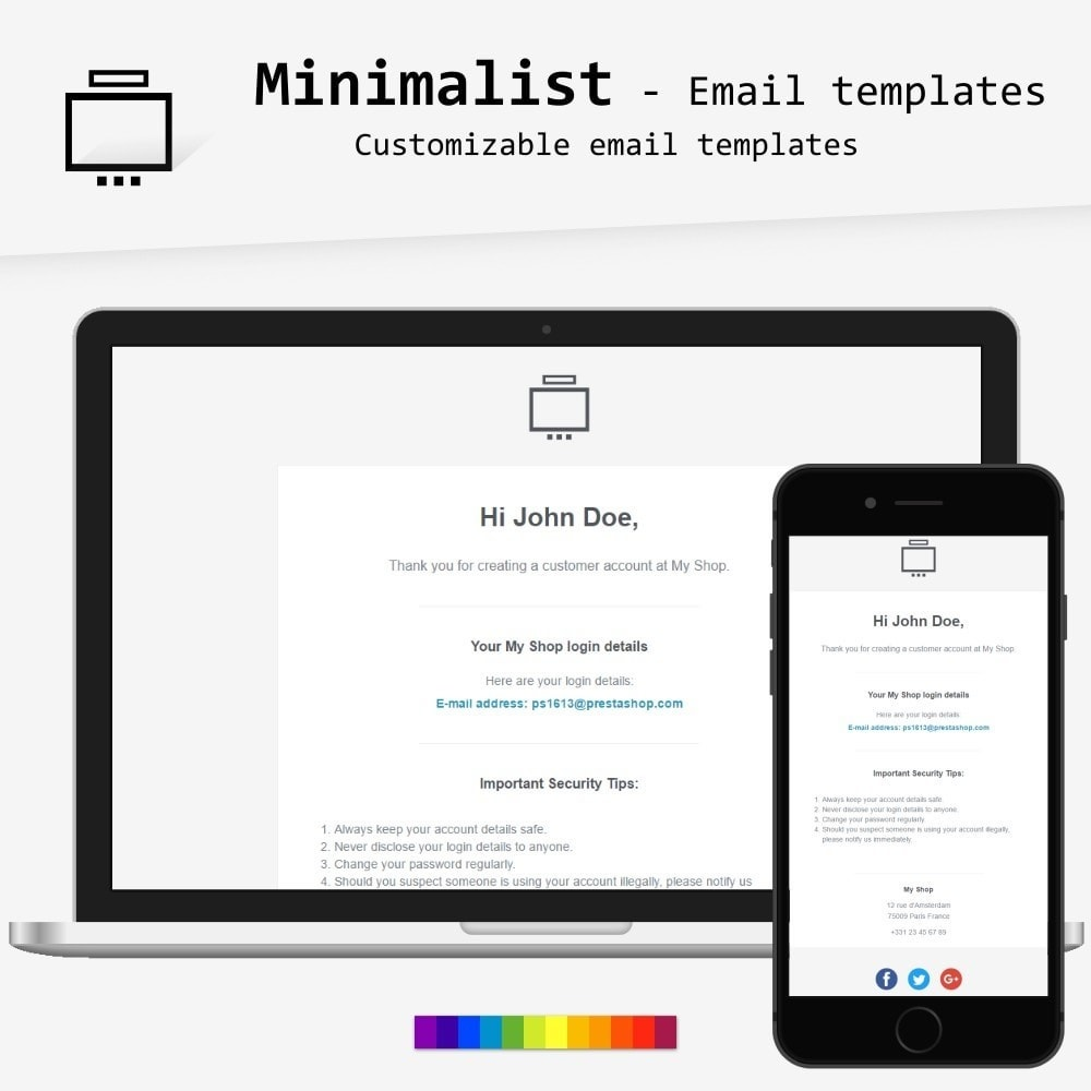 email - Email templates PrestaShop - Minimalist - Email templates - 1