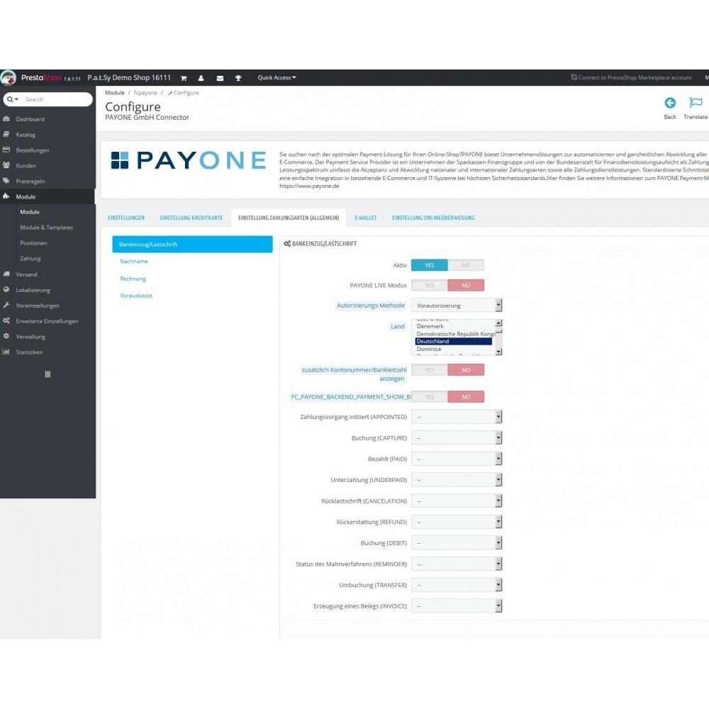 module - Payment by Card or Wallet - PAYONE payment official - 2
