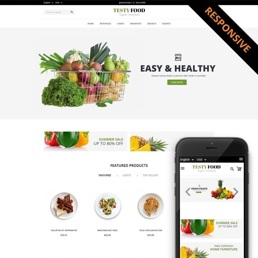 theme - Lebensmittel & Restaurants - TestyFood - 1