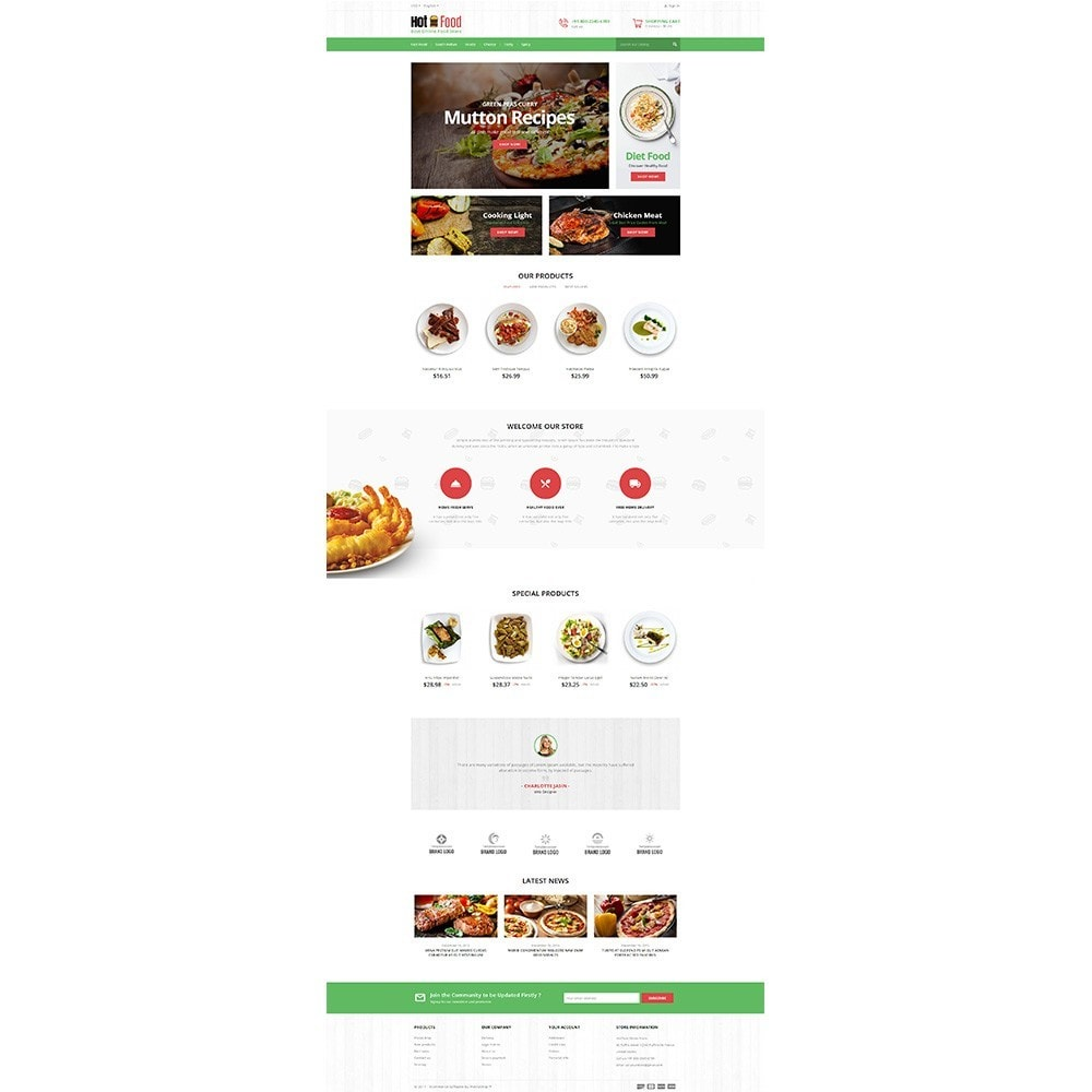 theme - Alimentos & Restaurantes - Hotfood Demo Store - 2