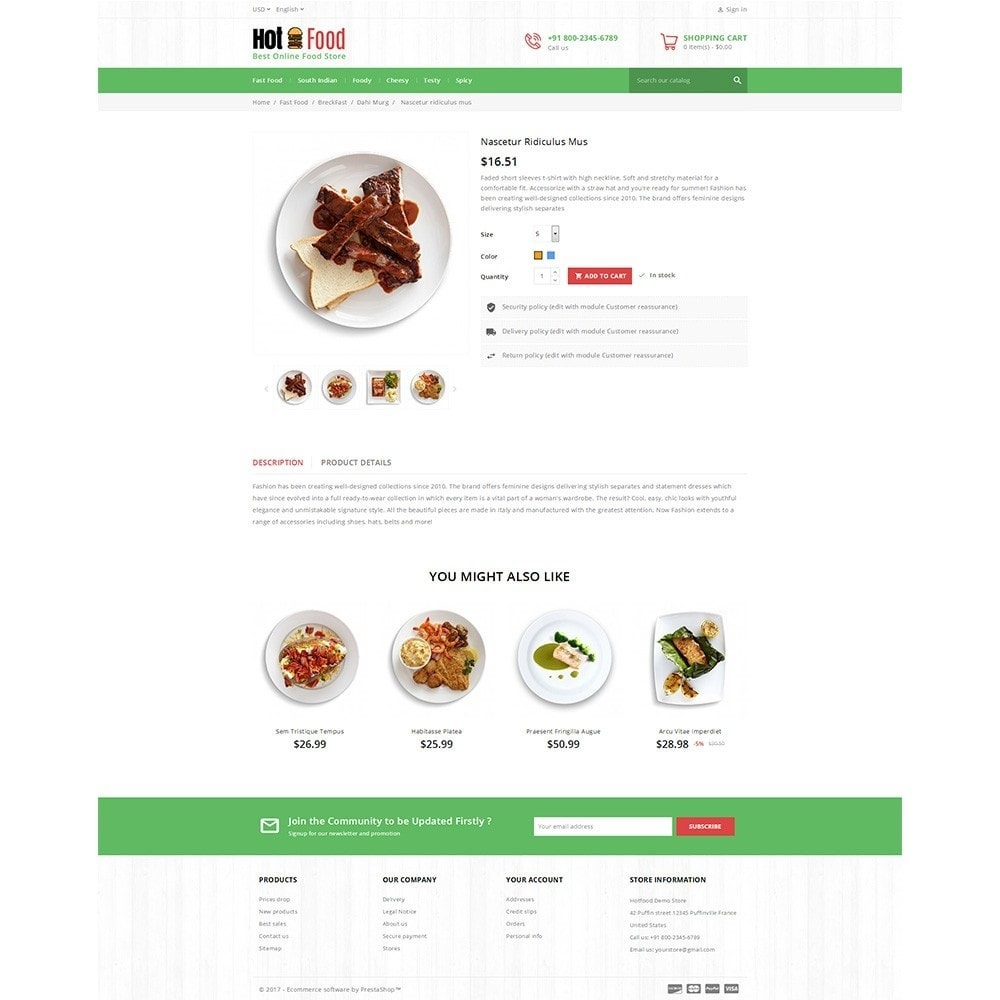 theme - Alimentos & Restaurantes - Hotfood Demo Store - 5