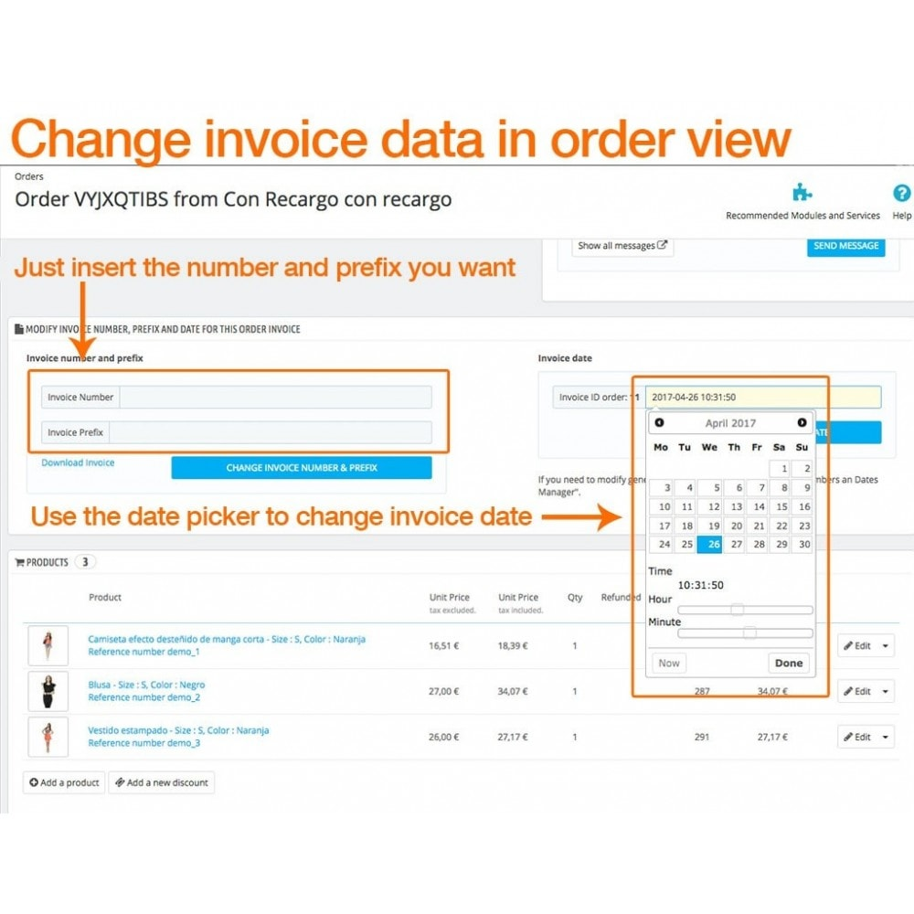module - Accounting & Invoicing - Invoice Numbers and Dates Manager - 3