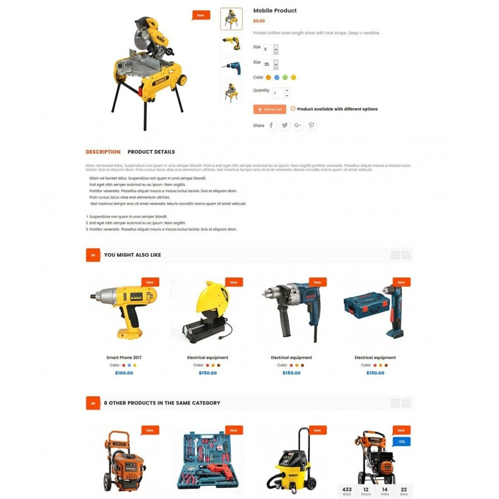 theme - Carros & Motos - Tools Store - 6