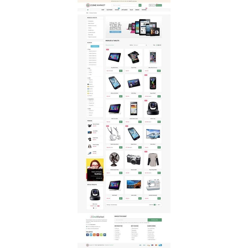 theme - Electrónica e High Tech - ZOne - Supermarket Online Shop - 3